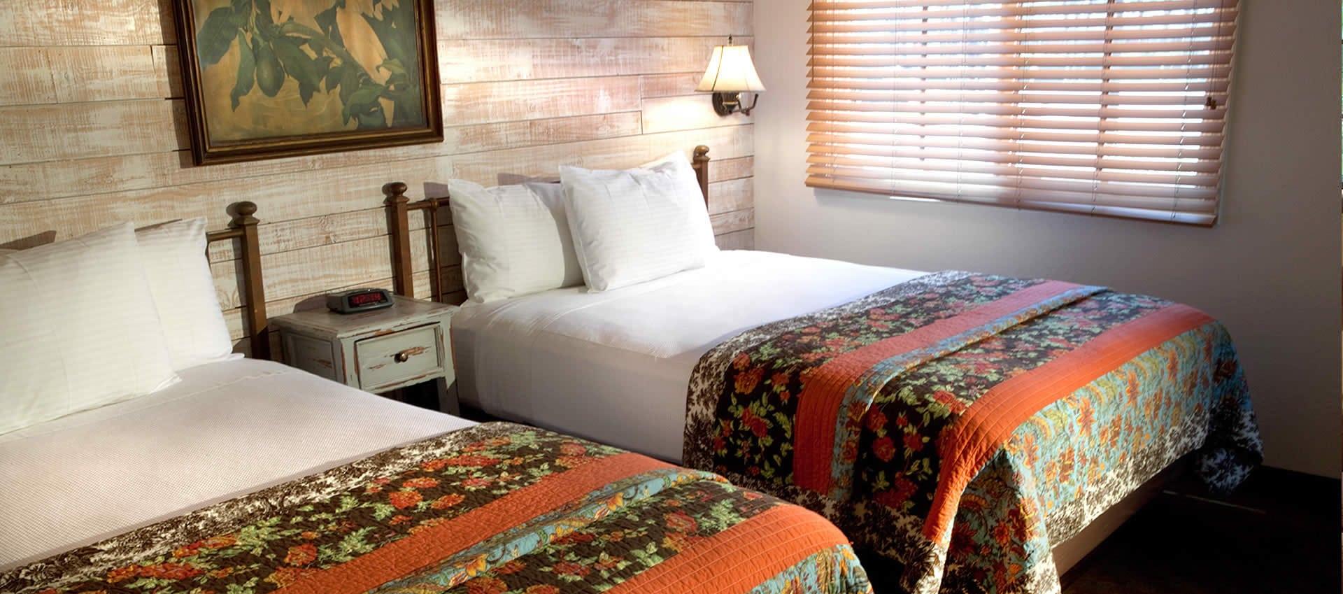 Double Queen Room beds